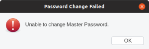 Unable to change Marger Password.